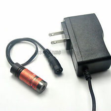 Focusable 650nm 50mw Red Laser Dot Diode Module 5VDC w/AC Adapter 14.5x45mm