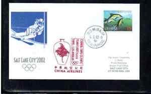 CHINA AIRLINES OLYMPIC FLIGHT TAIPEI TAIWAN- SYDNEY 2000 DOLPHIN
