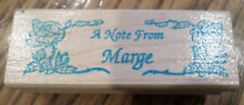 That'S All She Stamped Rose A Note From Marge Name  Wooden Rubber Stamp