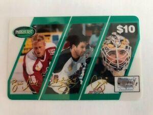 1995 NHLPA Parkhurst Phone Card 10$ Brendan Shanahan, Curtis Joseph, Brett Hull