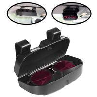 Car Sun Visor Sunglasses Case Holder Eye Glasses Organizer Box Credit Card  O3B7