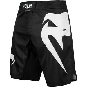 Venum Light 3.0 MMA Fight Shorts - Black/White