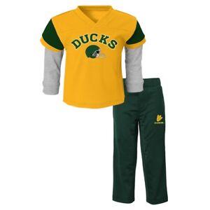 """Oregon Ducks NCAA Yellow """"Charger"""" Long Sleeve T-Shirt & Pants Set Boys (4-7)"""