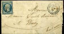 409849) Frankreich Nr. 9a, 25 C Napoleon vollrandig m. Nr.-Stpl. 3513 Vendeuvre