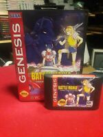 Sega Genesis Battlemania 2, Battle Mania 2, English. Game, Case. Repro.