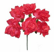 72 Open Roses Bouquets ~ MANY COLORS ~ Centerpieces Bridal Silk Wedding Flowers