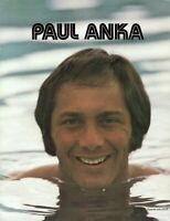 PAUL ANKA 1970s CONCERT PROGRAM-SOUVENIR BOOK BOOKLET-NEAR MINT TO MINT