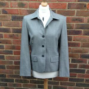 Stunning Herringbone RALPH LAUREN Designer Wool Jacket Blazer US Size 10 (12)VGC