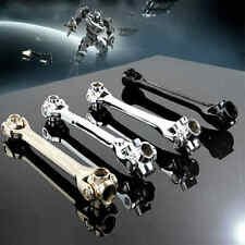 New 8 In 1 Multi Tool Black Hex Shank Socket Wrench Spanner Universal Hand Tools