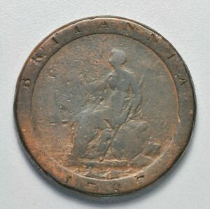 GB GEORGE III COPPER 'CARTWHEEL' PENNY - 1797  ++ NICE GRADE! ++ [040-19]