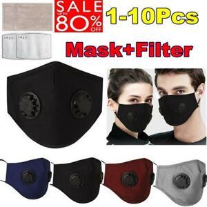 Waschbar Wiederverwendbare Gesichtsmaske Atemschutz Staub + 2 * PM2.5 Filter