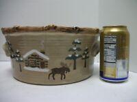 "Sonoma Lodge Moose 10"" SERVING BOWL 4 Qt Northwest Rustic Cabin Decor Pine Tree"