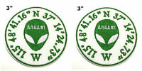 Area 51 2 Pcs Embroidered Patch Iron / Sew-on Souvenir Travel