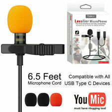 TYPE-C Lapel Lavalier Microphone For Android Samsung Youtube Video Recording Mic