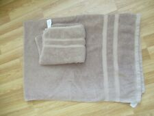 Brown Cotton Bath Sheet and Hand Towel