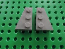 LEGO 2 x ala Pietra Zeppa 6564 6565 3x2 = 1 paia ALT GRIGIO CHIARO 7140 10030