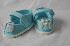 3D Edible Baby Shoe / Sneaker Cake Topper with owl  For Birthday,Baby Shower