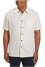 Woody's Men's Retro Lounge Cream Short Sleeve Woven Shirt XXL 2xl