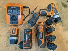 Rigid 12v Tools JobMax, Drill, Flash Light, Right Angle Drill.
