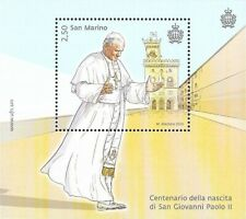 San Marino Mi.Nr. Block (2020) postfrisch/100. Geb. von Papst Johannes Paul II.