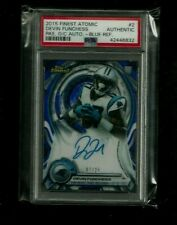 Devin Funchess Topps Finest ATOMIC BLUE REFRACTOR Auto Rookie #/25! ON-CARD! PSA