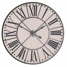 Shabby Chic Extra Large 105cm Vintage Style Chateau Metal Indoor Wall Clock