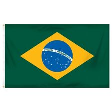 3x5 Brazil Flag Weather Resistant Poly Flag 3x5' 'Banner brass grommets
