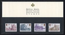 Royal Mail 1997 High Value Castle Definitives in Official Presentation Pack