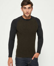 Superdry Mens Arno Baseball Crew Neck Jumper