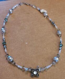 "Handmade Jewelry - Women's 16"" Necklace - Glass Beads, Quality Clasp - New GKN5"