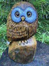 OWL Chainsaw Carving SASSAFRAS WOOD Owl Sculptures ORIGINAL Folk Artwork
