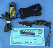 TOPS Mini Hoffman Harpoon Knife 1095 Carbon Para-Cord Wrapped USA Made