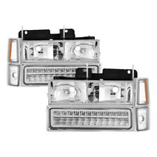 94-98 Chevy C/K Pickup Truck Tahoe Suburban LED Headlights Bumper Corner Lights