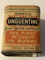 Vintage Norwich Unguentine Ountment New York Tin