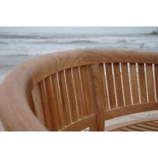 Anderson Teak Curve 3 Seater Bench Extra Thick Wood - BH-005CT