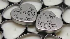 Personalised Initials Wedding LOVE Candles Gift Bride & Groom wedding favours