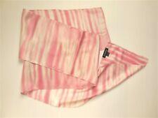 Vintage Bebe 100% Silk X-Long Scarf Pink Watercolor Stripes on White 9� x 72�
