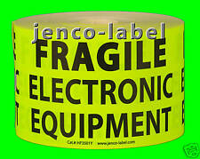 HF3501Y, 500 3x5 Fragile Electronic Equipment label