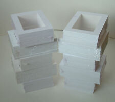 "SALE-100 SOFT WHITE PICTURE MOUNTS 8 x 6"" for 6 x 4"""