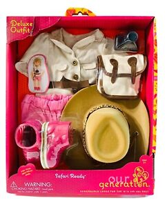 "Our Generation SAFARI READY Deluxe Outfit for 18"" Dolls New"