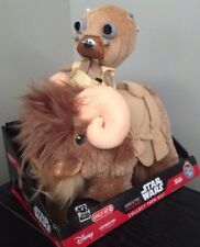 New 2 Pieces FUNKO TUSKEN RAIDER BANTHA GALACTIC PLUSHIES STAR WARS Toy Doll