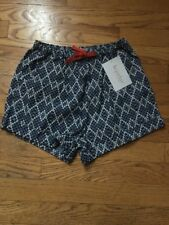 Nwt! Kc Parker Girls Size 10 Blue And White Shorts