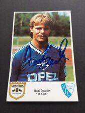 Rudi Decker VFL BOCHUM signé 10X15 CARTE AUTOGRAPHE SUR PHOTO