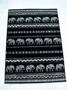 Quality Elephant Rug 120cm x 170cm Jungle Safari Animal Print Twist (521)