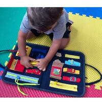 Busy Board for Toddlers Montessori Basic Motor Skills Activity Board