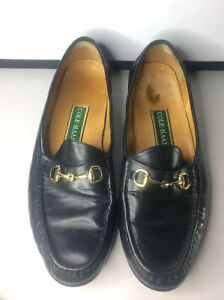 Cole Haan Men's Horsebit Loafers Black Ascot Leather Gold CO2498 Size 11.5M