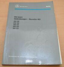 Mercedes G-Modell W463 200 230 300 GE 250 300 GD 1990 4x4 Werkstatthandbuch