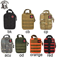 Tactical First Aid Kit Bags Emergency Medical EMT Pouch Molle Rescue Box Travel