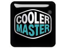 "Cooler Master 1""x1"" Chrome Domed Case Badge / Sticker Logo"