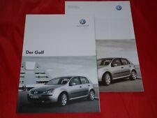 VW Golf V Trendline Comfortline Sportline Prospekt Brochure von 2004